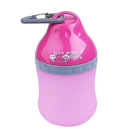 Wangjie Portátil Botella de Agua para Mascota, Bebedero para Perros Gatos, Dispensador de Agua