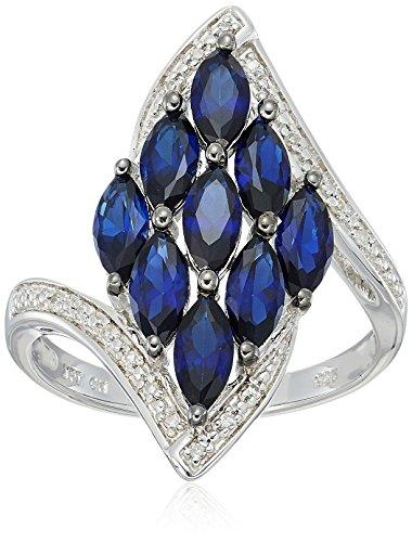 Diamond & Sapphire Bypass Ring - 2