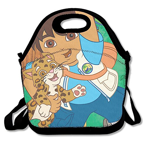 [Go Diego Go Lunch Tote Bag] (Dora Diego And Boots)