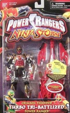 Power Rangers Ninja Storm Crimson Thunder Turbo Tri-Battlized Power Ranger Action Figure
