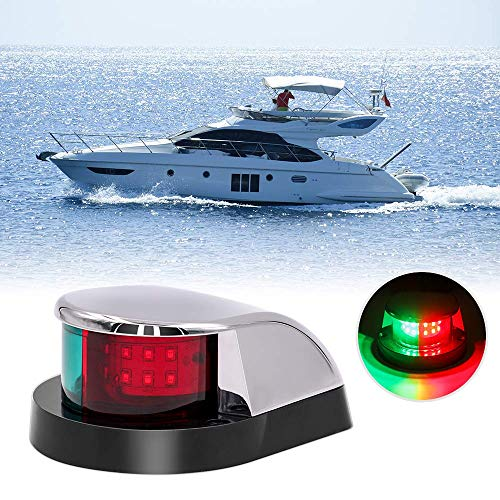 Obcursco Boat Navigation Light, Marine LED Navigation Light, Boat LED Bow Light. Ideal for Pontoon, Skiff, and Small Boat