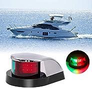 Obcursco Boat Bow Navigation Light, Marine LED Navigation Light,Bi-Color Deck Mount LED Navigation Bow Light.