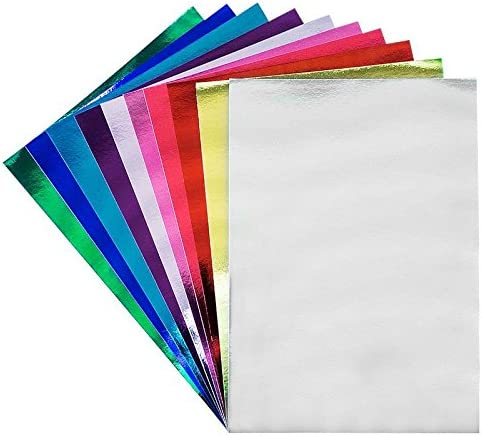 10 Bogen Bastelpapier Metallic Spiegelkarton Din A3 250gm² Verschiedene Farben Bastelkarton Spiegelkarton Kartengestaltung Scrapbooking