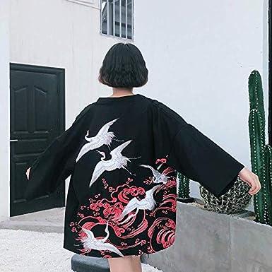 Amazon.com: Chaqueta Kimono japonesa de primavera de verano ...
