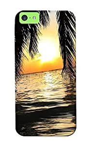 MMtbvzq4770YumiR Tough Iphone 5c Case Cover/ Case For Iphone 5c(sunset In The Maldives ) / New Year's Day's Gift