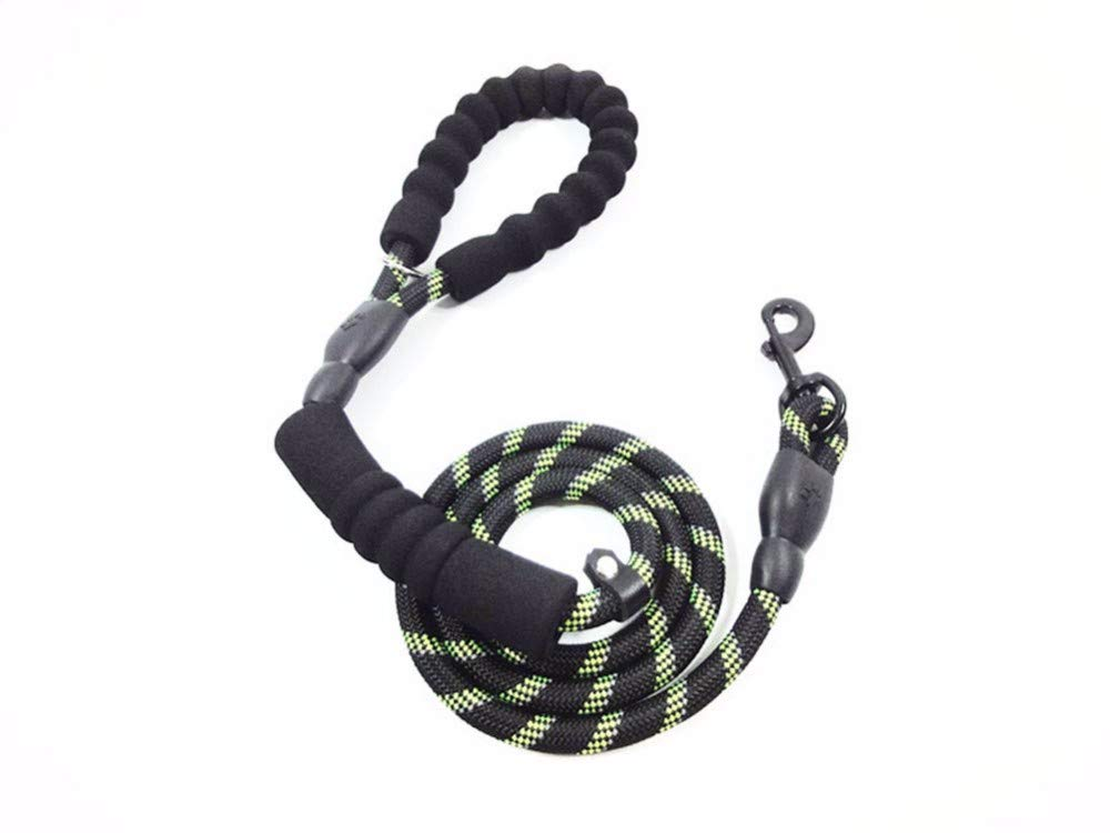 2 wu-pet supplies Round Rope Reflective Dog Chain Foam Comfortable Handle Rope 180  1.2cm,02