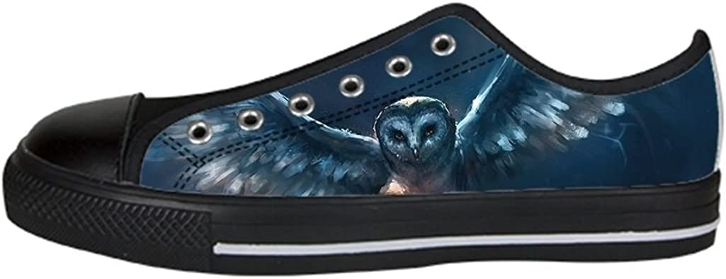 Daniel Turnai Fan Custom Kids Shoes Owl Cartoon Top Canvas