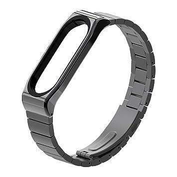 XIHAMA Correa para Xiaomi Mi Band 4, Xiaomi Mi Band 3 Acero Inoxidable Pulsera de Recambio Bracelet Metal Elegante Muñequera Compatible con Mi Band 4/ ...