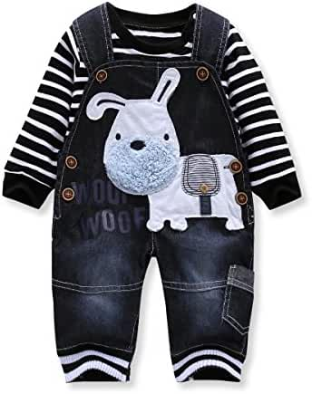 Cute Baby Boys Clothes Toddler Boys' Romper Jumpsuit Overalls Stripe Rompers Sets