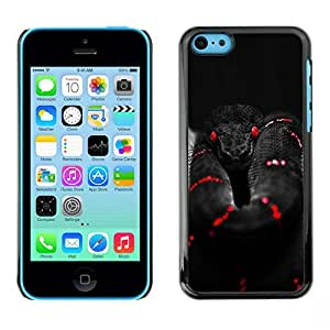 Plastic Shell Protective Case Cover || Apple iPhone 5C || Black Red Deep Dark @XPTECH