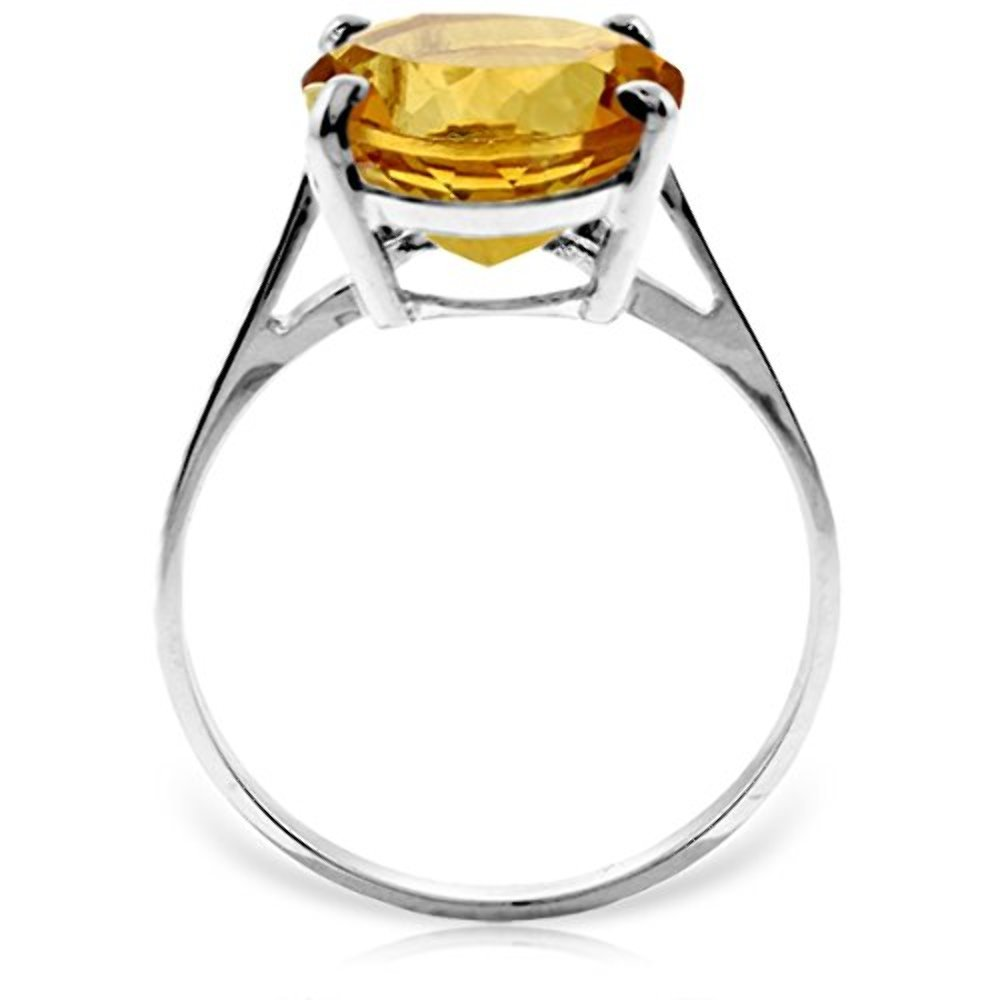 Galaxy Gold 14k White Gold Natural Citrine Solitaire Ring - Size 6.5
