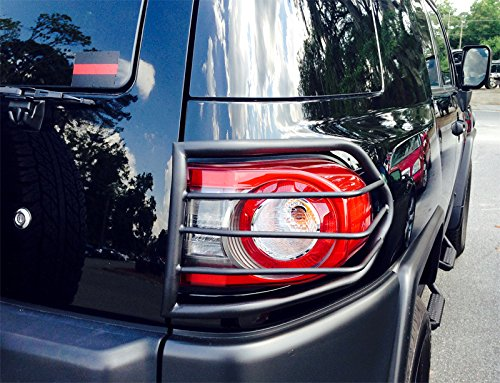 Tyger Custom Fit 07-15 Toyota Fj Cruiser 2pcs Black Taillight Covers Tail Light Guards Mounting Hardware /& Instruction Included
