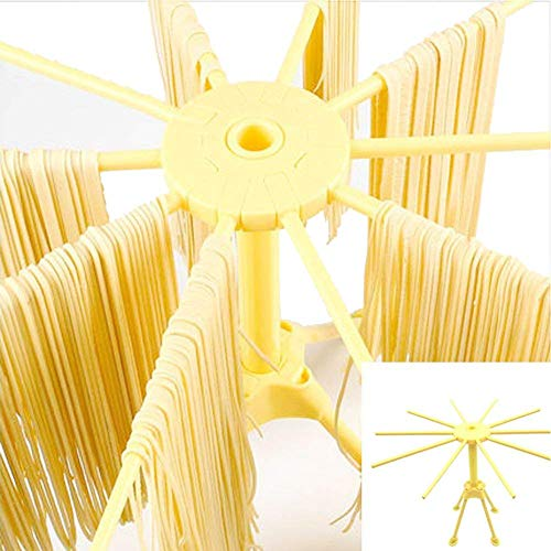 Budesi 10 Arms Food Grade ABS Plastic Matrial Collapsible Spaghetti/Pasta Drying Rack or Household Noodle Dryer Stander Fram Holder