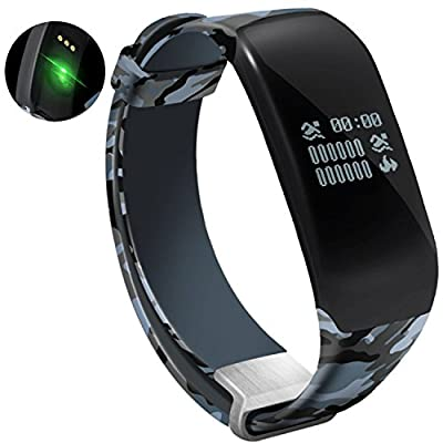 NewYouDirect Fitness Tracker Heart Rate Monitor Smart Bracelet Waterproof Swimming Sport Wristband Smartband Pedometer Activity Tracker Calorie Counter Smart Watch Apple iOS Android