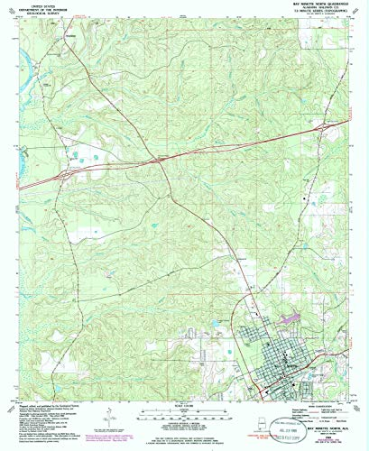 YellowMaps Bay Minette North AL topo map, 1:24000 Scale, 7.5 X 7.5 Minute, Historical, 1986, Updated 1986, 26.8 x 21.9 in - Paper ()