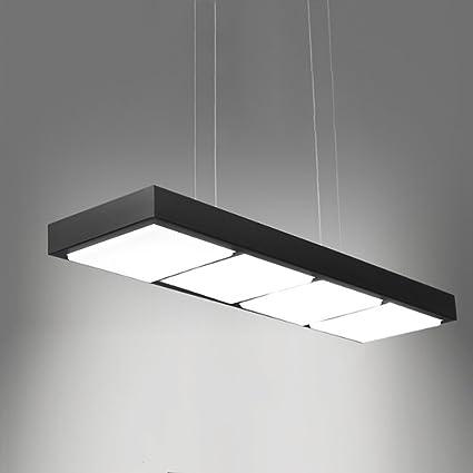 MEGSYL Long-Square LED lámparas de Hierro Forjado, lámpara ...