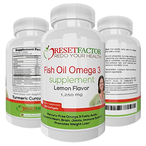 UPC 746278852667, Omega 3 Fish Oil Supplement by Reset Factor - Fish Oil Benefits - Supports a Healthy Heart, Joint, Immune System and Promotes Weight loss. 120 Softgels Fish Oil Omega 3