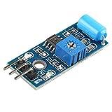 HALJIA SW-420 Normally Closed Type Vibration Sensor Module Alarm Sensor Module Vibration Switch Module Motion Sensor Module for Arduino Raspberry P