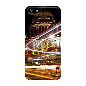Protective Tpu Case With Fashion Design For Iphone 5/5s (christmas Lights In London)