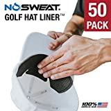 NoSweat Golf Hat Liner & Cap Protection - Prevent Hat Stains Rings ✮ Moisture Wicking, Headband, Sweatband, Hat Saver & Protection, Prevention, Cooling Towel Effect