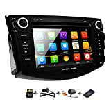 2008 toyota stereo - Double Din Radio Car Stereo with Navigation for Toyota RAV4 2006-2012 Bluetooth Head Unit 7 inch indash DVD Touch Screen GPS SD USB Remote Steering Wheel Control