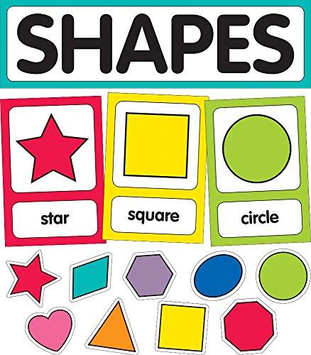 (Schoolgirl Style Decorative Just Teach Shape Cards Mini Bulletin Board Set (110395))