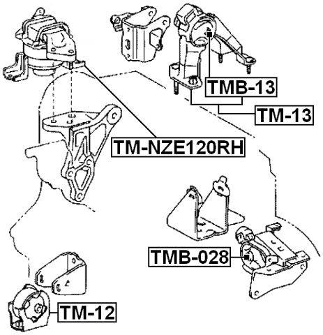 Amazon Com Right Engine Mount Hydro Febest Tm Nze120rh Oem 12305