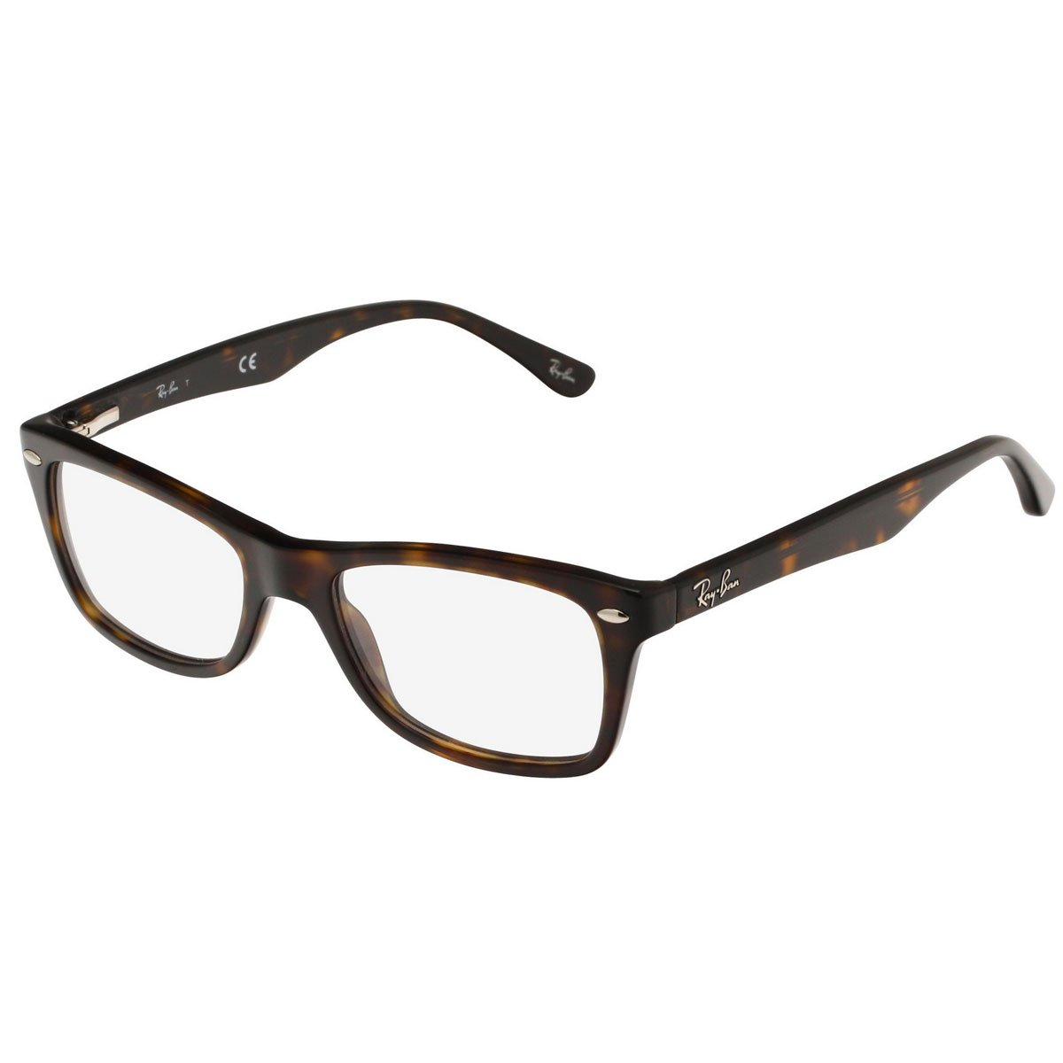 Ray-Ban Women's Rx5228 Square Eyeglasses,Dark Havana,50 mm by Ray-Ban
