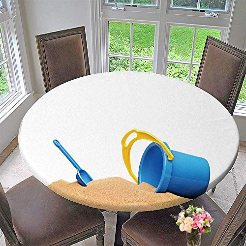 ar Table Cover View Basket and Scoop at The Beach for Wedding/Banquet 31.5