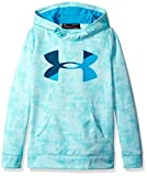 Under Armour Girls' Armour Fleece Big Logo Novelty Hoodie,Blue Infinity /Blue Shift, Youth X-Small