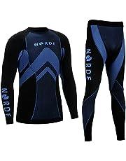 Norde Thermo-tech functioneel ondergoed voor heren, thermo-actief, ademend, basislaag, set, outdoor, wielrennen, hardlopen