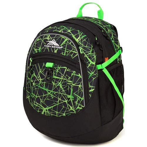 High Sierra Fatboy Backpack, Digital Web/Black/Lime]()