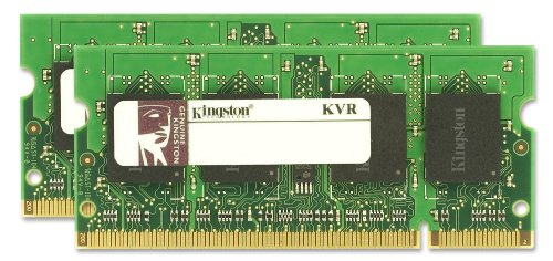 - Kingston ValueRAM 4GB 667MHz DDR2 Non-ECC CL5 SODIMM (Kit of 2) Notebook Memory