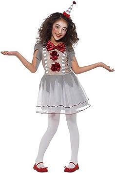 Disfraz de Payaso Retro de Halloween para niña, Estilo arlequín ...