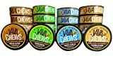 tobacco alternative pouches - Java Chews, Premium Flavored Coffee Pouches, No Tobacco, No Nicotine Smokeless Alternative, Caramel, French Vanilla, Mocha, & Wintergreen Variety Pack (4 Cans)