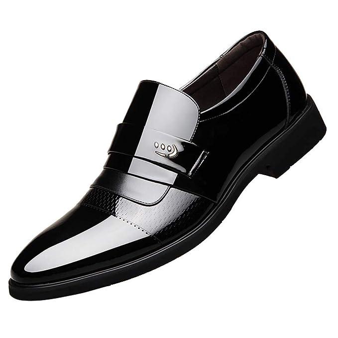 Amazon.com: Corriee Gift Idea Zapatillas de hombre de piel ...