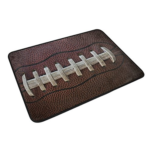Tigers Personalized Football - XiangHeFu Area Rugs 23.6x15.7 Inches Doormats American Football Soft Carpet Personalized Mat for Kitchen Living Dining Room Bedroom Decorative