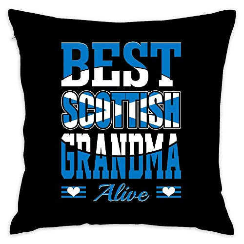 Scottish Funny Humor Throw Pillow Cover Pillowcase Cover Cotton Outdoor Indoor Square Cushion Cover for Home Sofa Couch 18x18 inch -