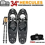 "New MTN Man Woman Kid Youth 34"" Blue Snowshoes with Nordic Walking Pole Free Bag"