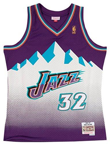 Jersey Utah (Mitchell & Ness Utah Jazz Karl Malone Swingman Jersey (Purple, M))