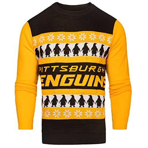 FOCO Pittsburgh Penguins One Too Many Light Up Sweater - Mens Extra Large by FOCO