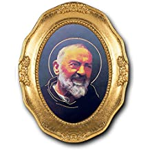 StealStreet SS-Wjh-340-523 St. Padre Pio Italian Stamped, Easel Back