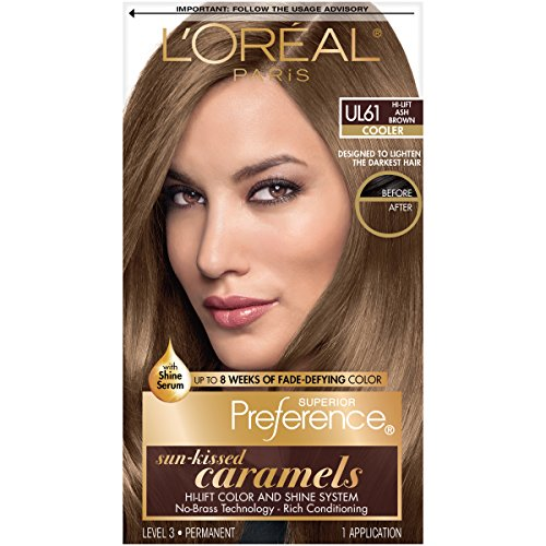 L'Oréal Paris Superior Preference Fade-Defying + Shine Permanent Hair Color, UL61 Ultra Light Ash Brown, 1 kit Hair Dye (Best Box Dye To Lighten Dark Hair)