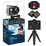 4K Action Camera, Waterproof WiFi Sports Camera Full HD 4K 25FPS 2.7K 30fps