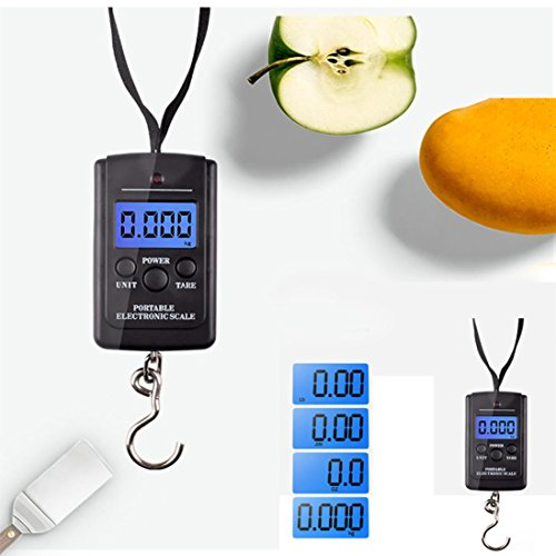 Digital Scale,LtrottedJ 40kg x 10g Digital Scale, for Fishing Luggage Steelyard Hanging Electronic Scale