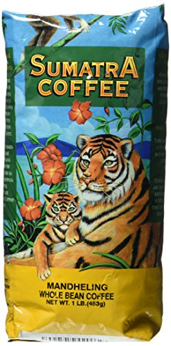 Sumatra Mandheling Coffee Blend, Whole Bean - Dark Roast, Fresh Strong Arabica Coffee - Strong And Rich Flavor - Magnum Exotics, 1 Lb Bag ()