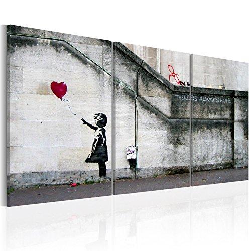 murando - Cuadro en Lienzo 120x60 - Impresion de 3 Piezas Material Tejido no Tejido Impresion Artistica Imagen Grafica Decoracion de Pared Banksy 020115-9