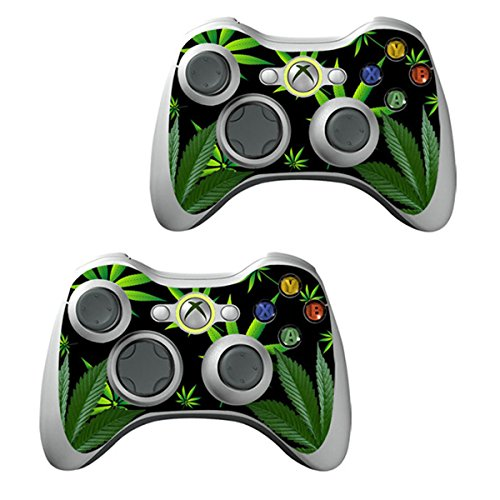 XBOX 360 Console weeds Design Decal Skin - System & Remote Controllers - Weeds - Black