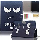 Galaxy Tab S2 8.0 T715 Case, Dteck(TM) Elegant Colorful Paint PU Leather Case [Auto Sleep/Wake Feature] Magnetic Snap Flip Stand Cover for Samsung Galaxy Tab S2 8.0 inch SM-T715 (1 Don't Touch Me)