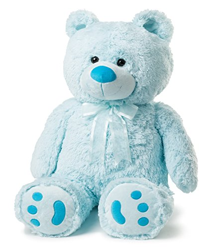 Blue Stuffed Bear - Big Teddy Bear - Blue